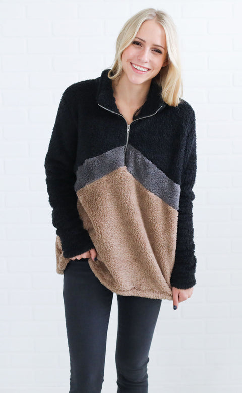 keep it cozy fuzzy pullover