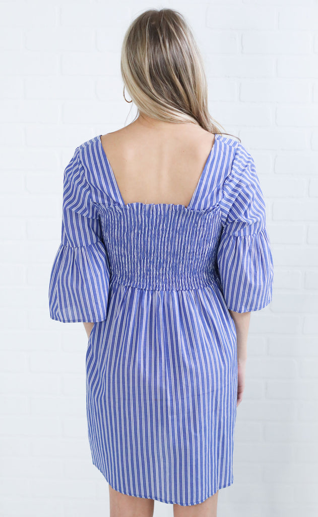 keep it real bell sleeve dress