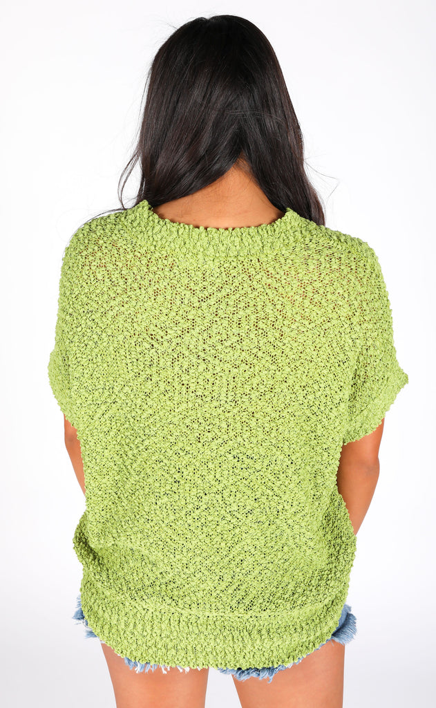 keep things simple lightweight sweater - moss