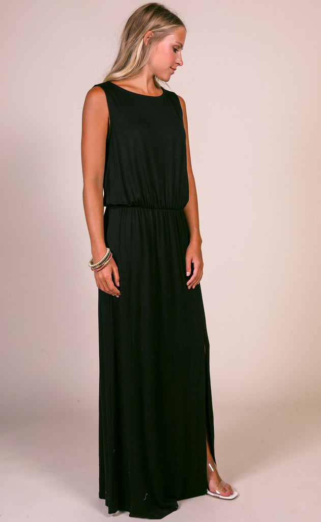 keep it casual maxi dress - black