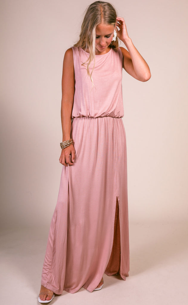 keep it casual maxi dress - blush