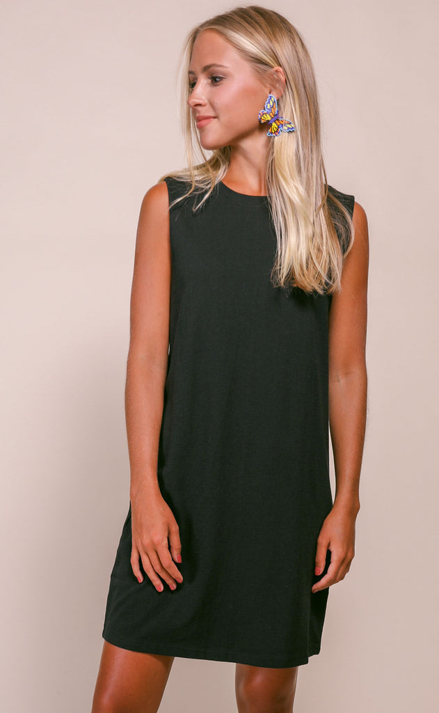 keep it casual basic dress - black