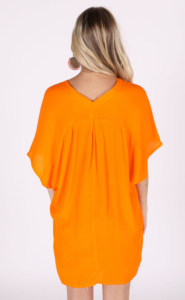 key west v-neck tunic - tangerine