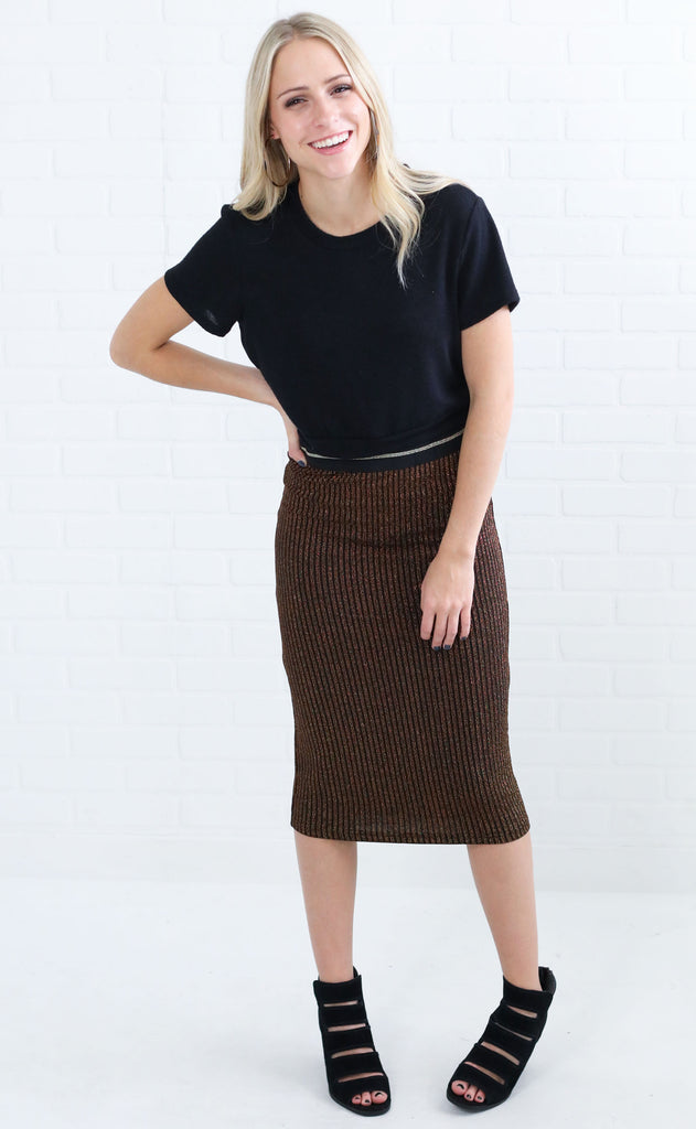 khloe metallic skirt