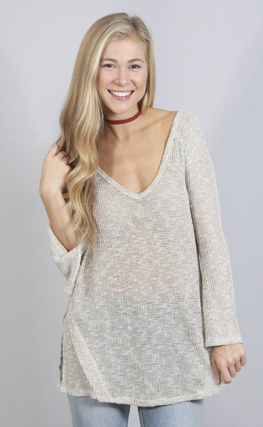 knit a chance open back sweater