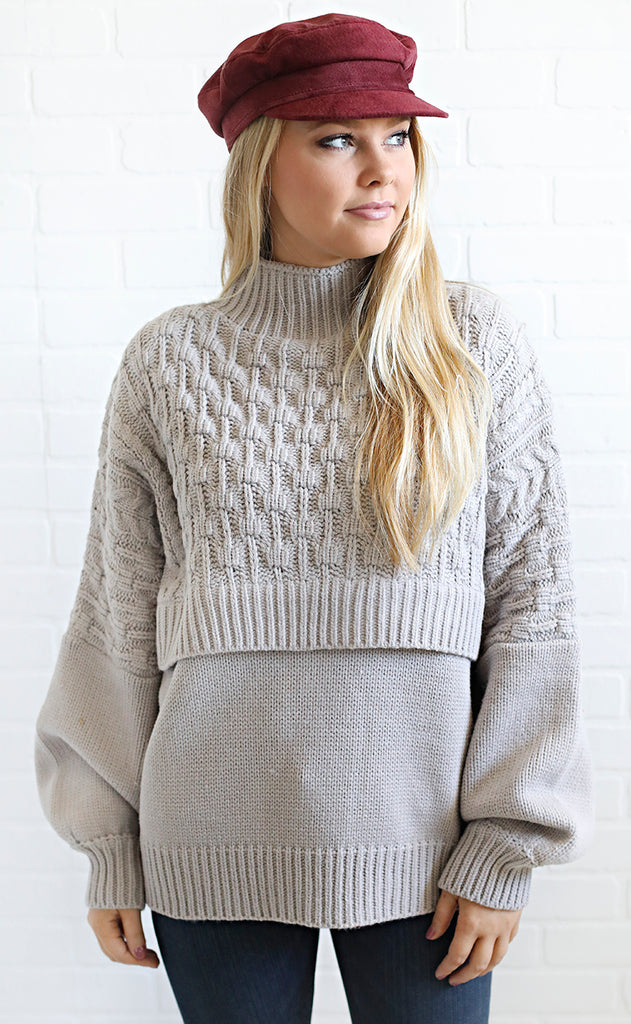 knit matters chunky sweater