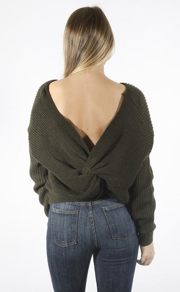 knot about it crop sweater