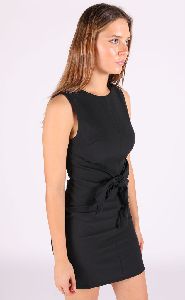 knot it shift dress - black