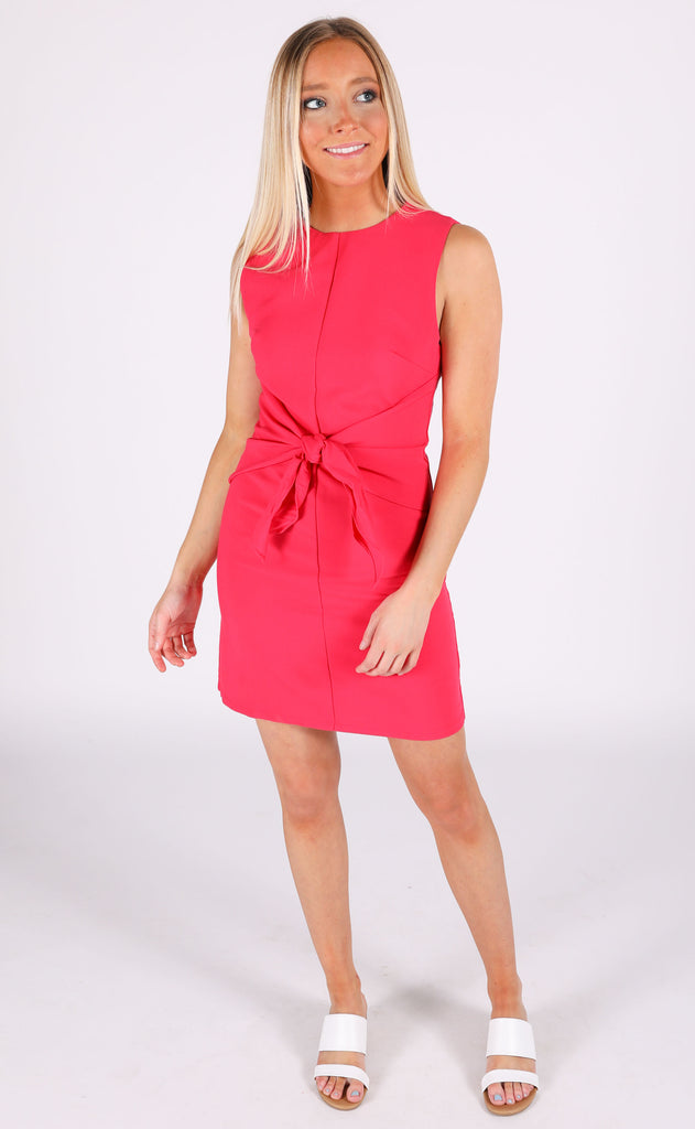 knot it shift dress - magenta