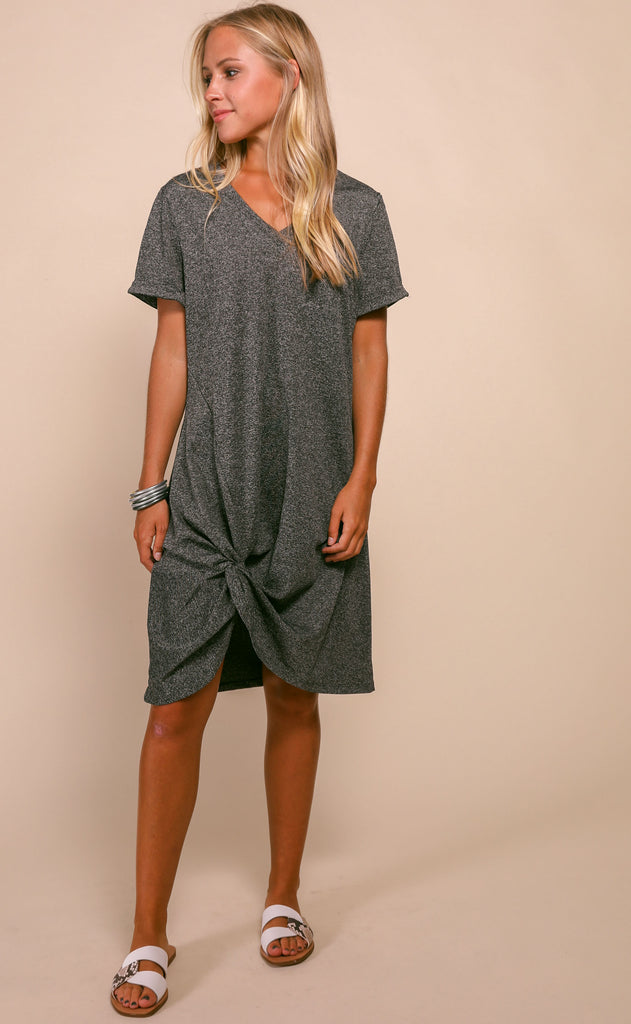 knotted up tee dress