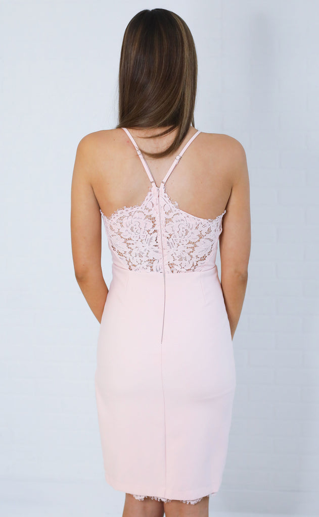 lace yourself shift dress