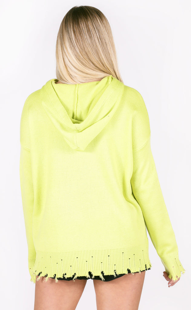 laid back hooded sweater