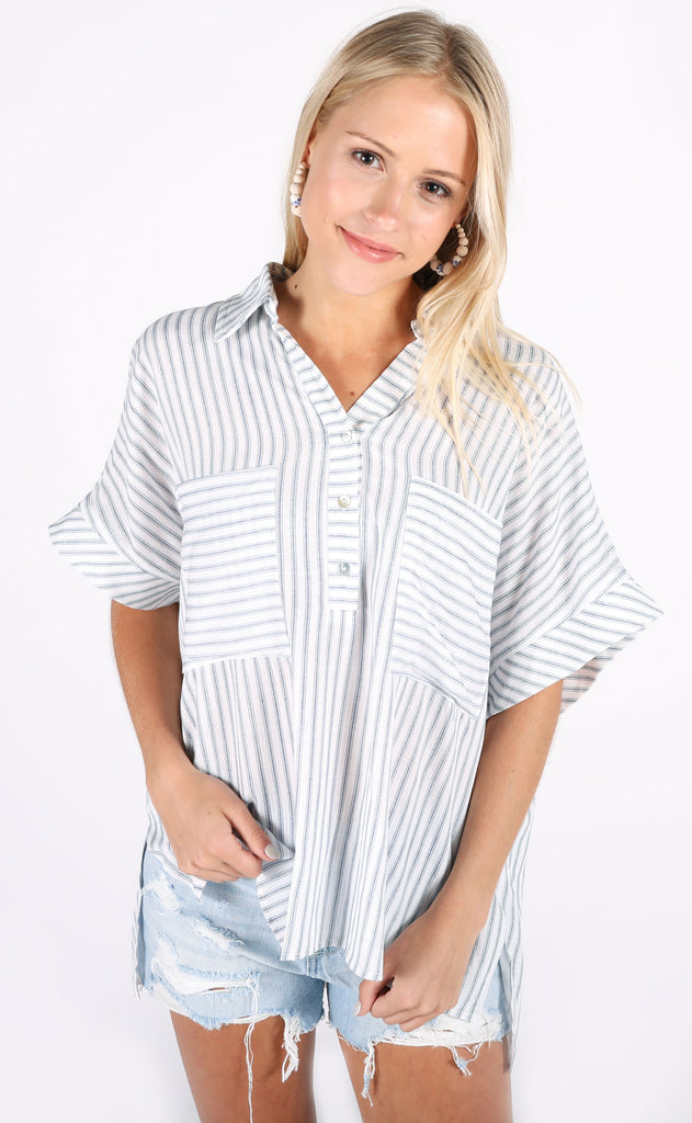 lakehouse striped top