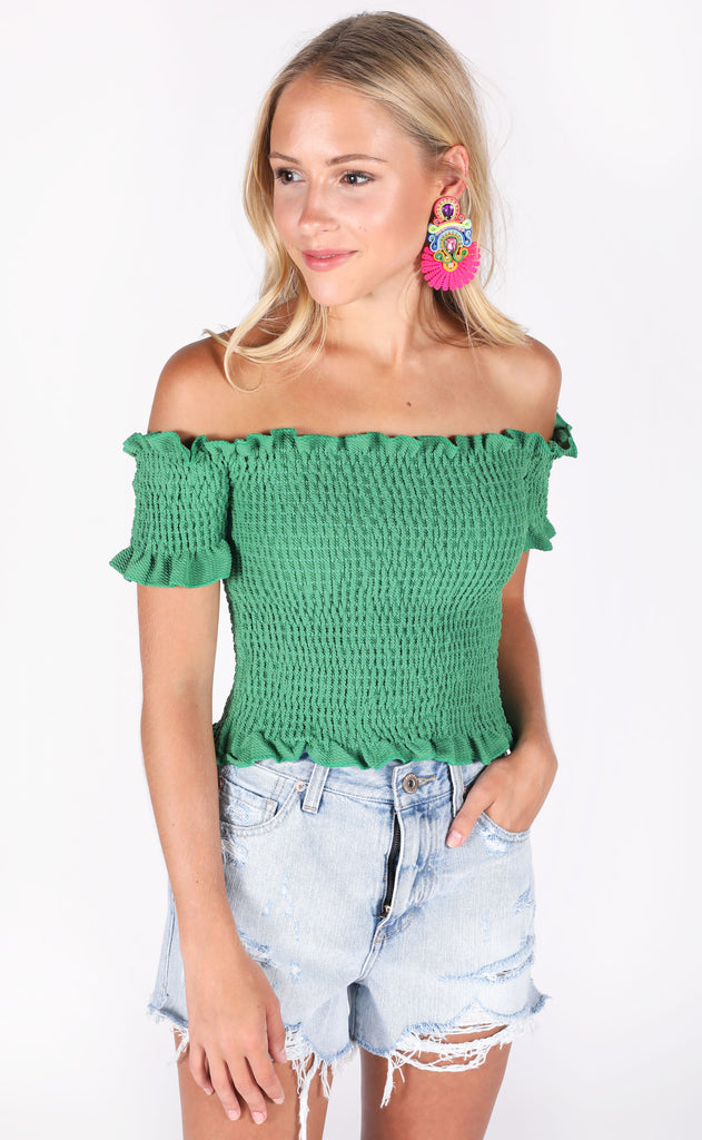 latest obsession crop top - green