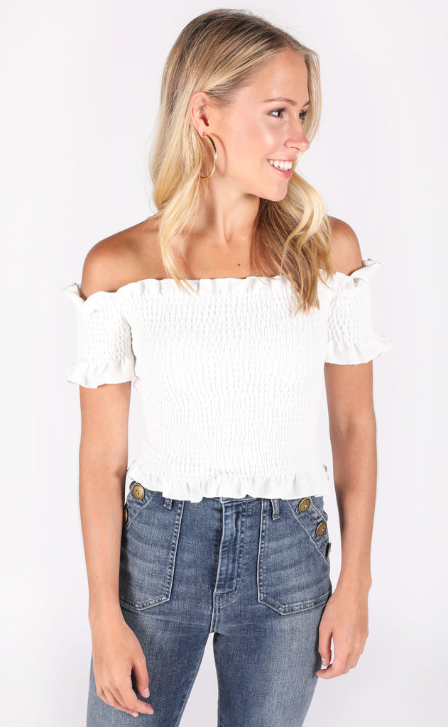 latest obsession crop top - ivory