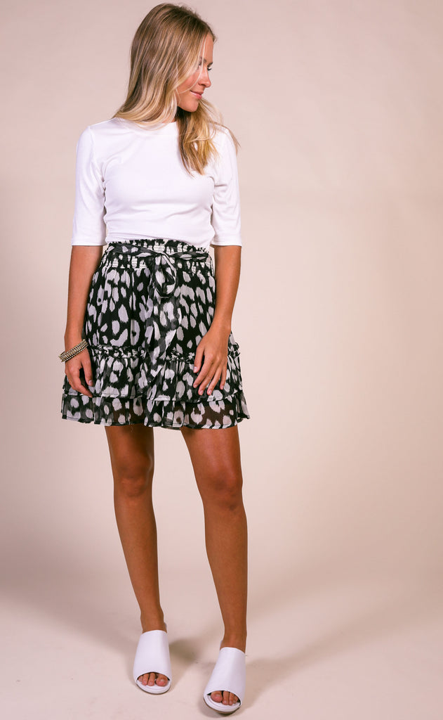 spotty ruffle skirt