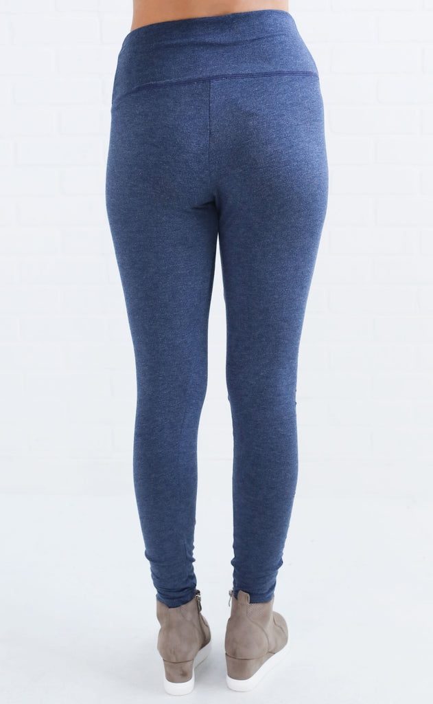 leggy legend distressed leggings - blue