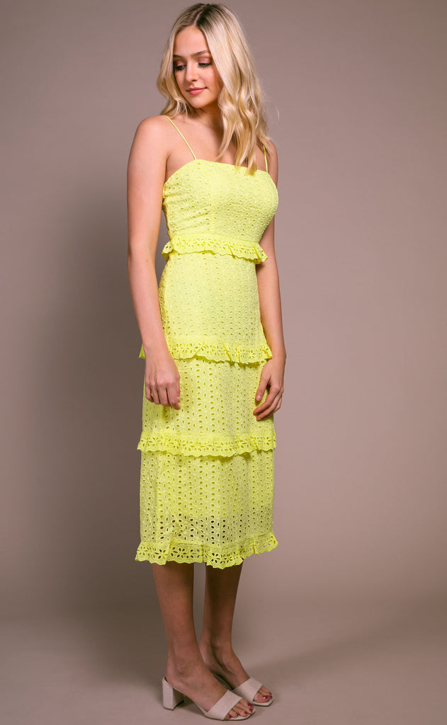 lemonade eyelet dress