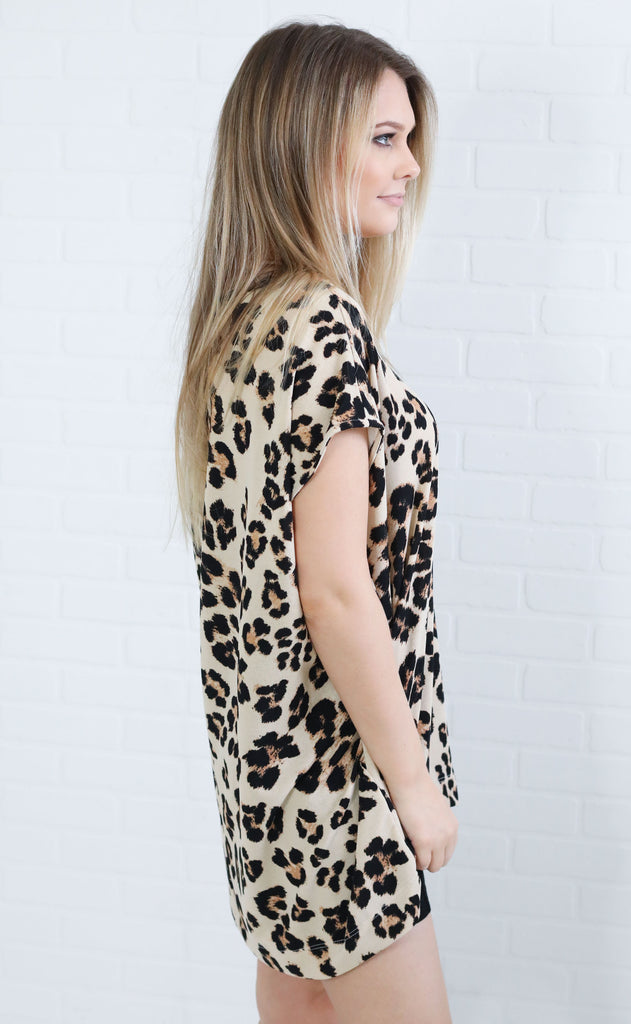 leopard lady printed tunic