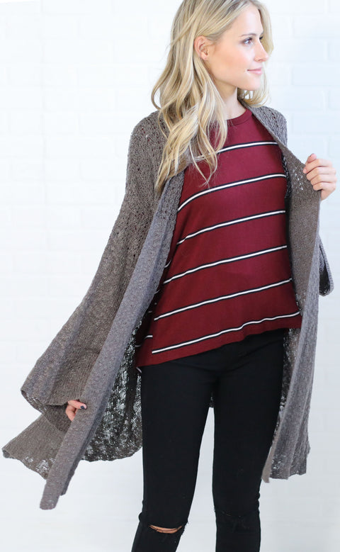 let loose knit cardigan