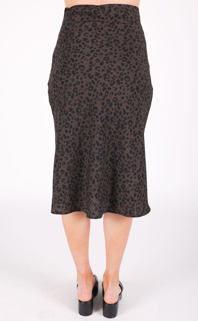 let's pounce leopard midi skirt