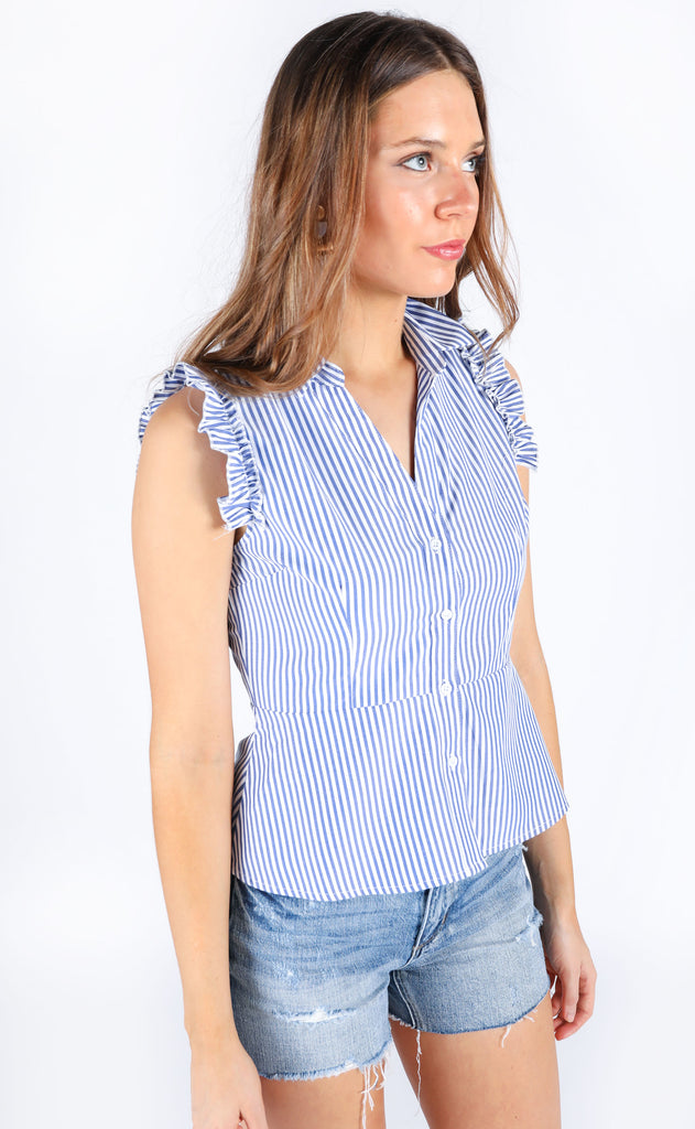 let's sail away striped top