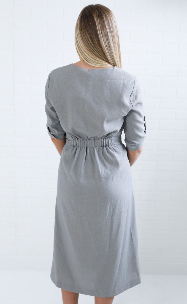 life of luxury button up dress