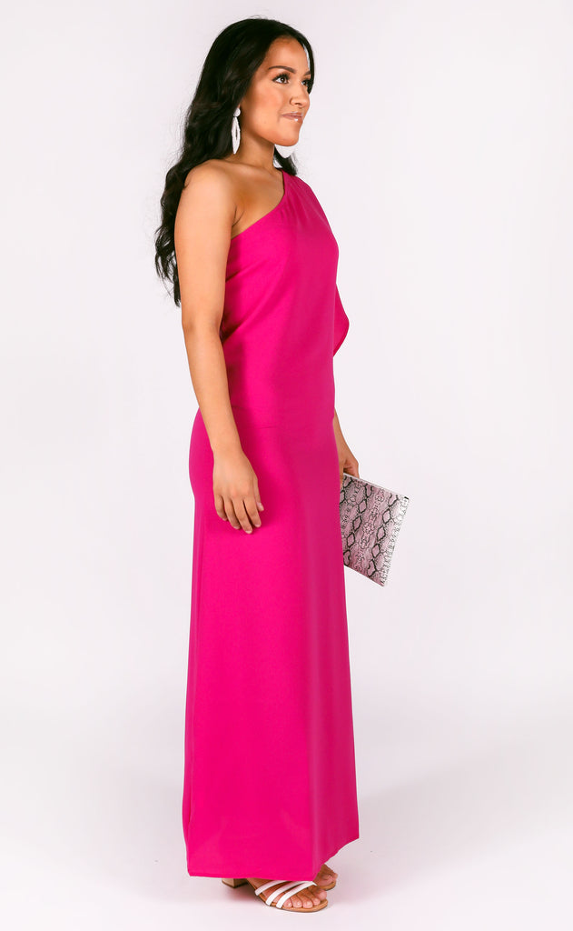like magic one shoulder dress - orchid