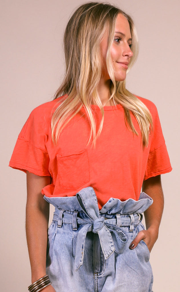 z supply: the lina club tee - tropical coral