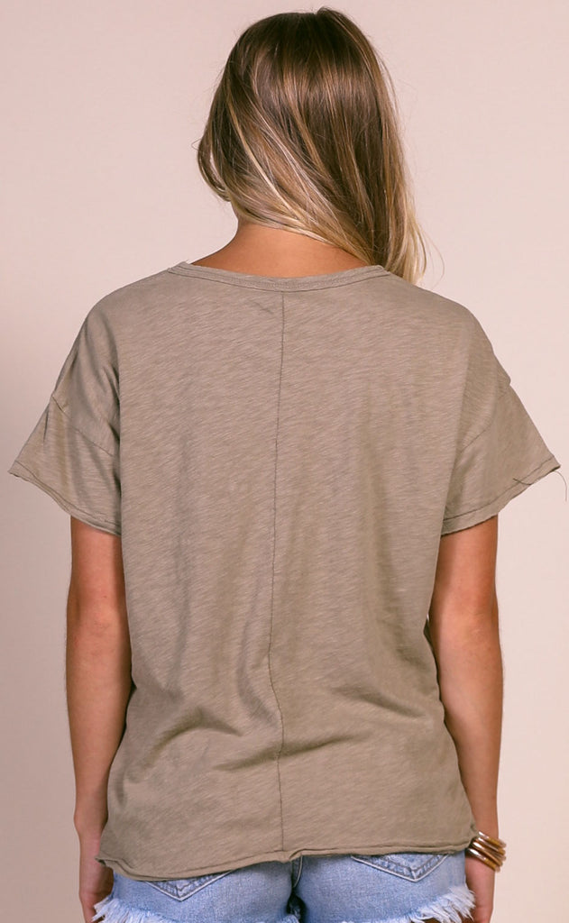 z supply: the lina club tee - silver sage