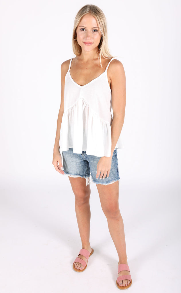 live it up basic tank - ivory