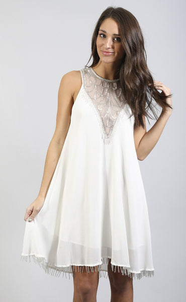 show me your mumu: liza dress - beadiful white