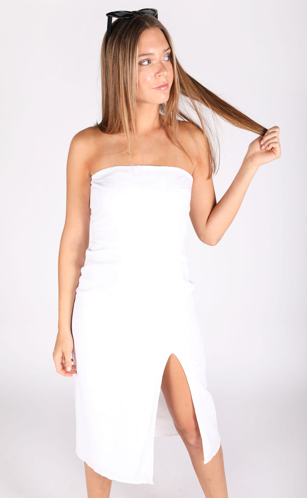long weekend midi dress - ivory