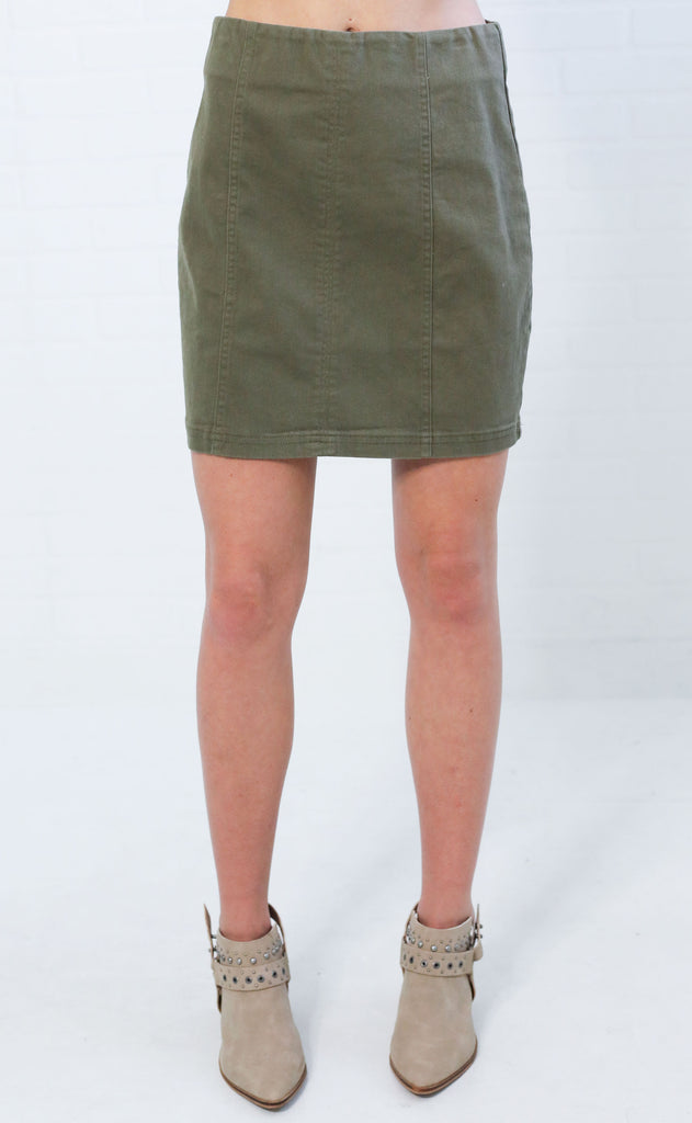 looking good mini skirt - olive