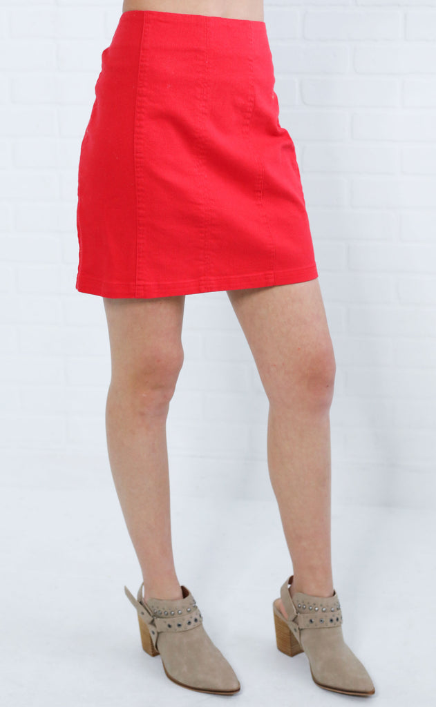 looking good mini skirt - red