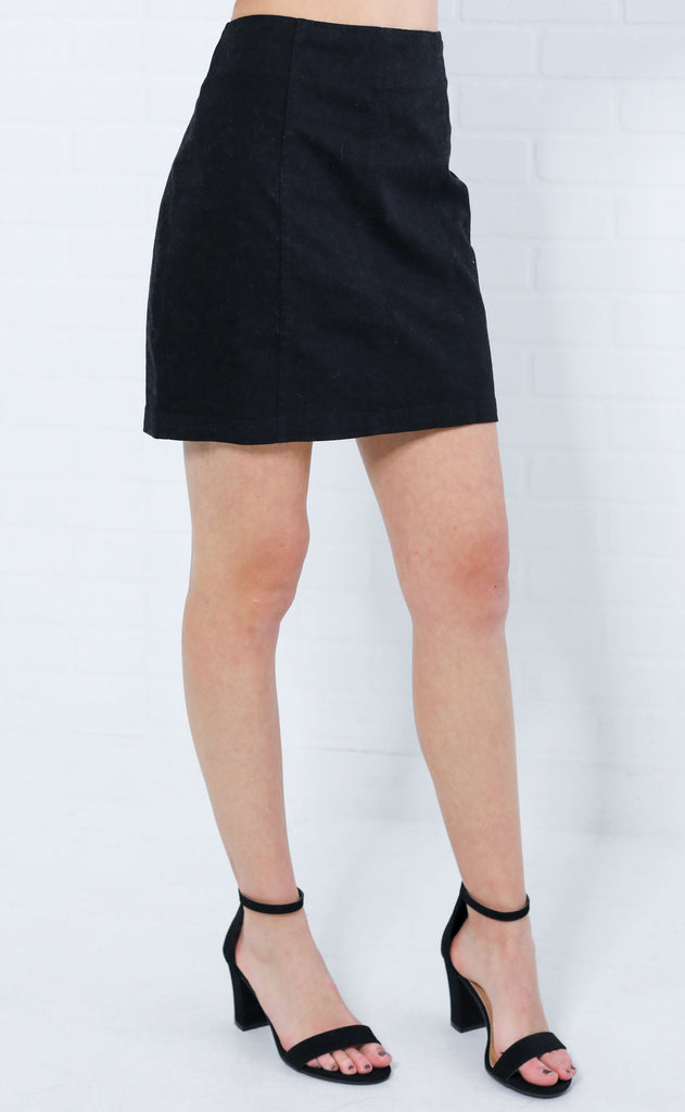 looking good mini skirt - black