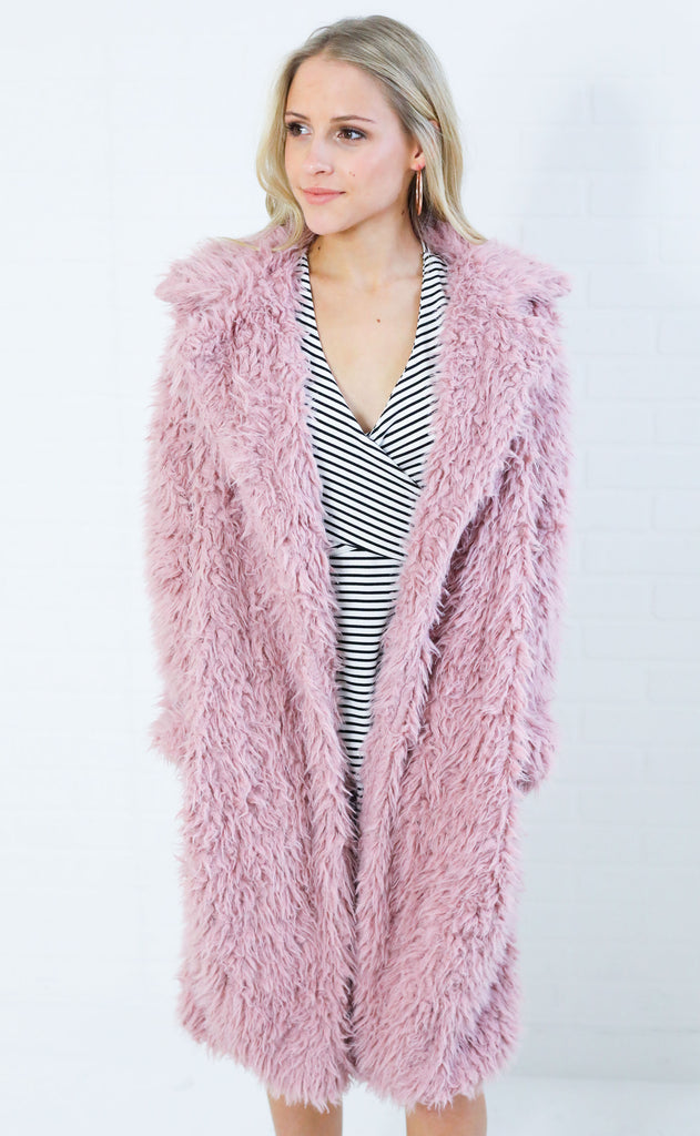 looking luxe fur jacket