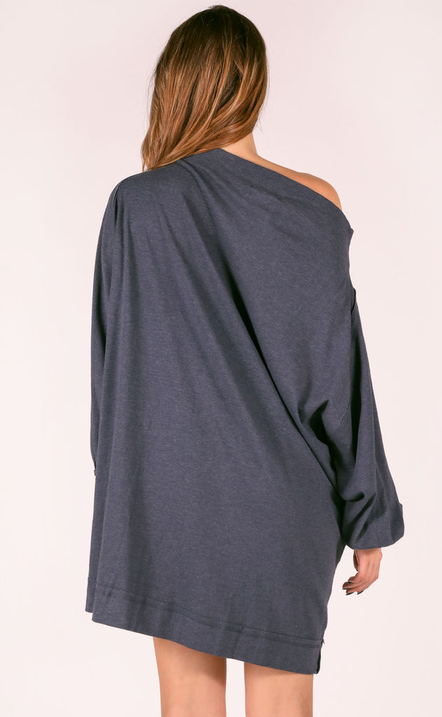 lounge life oversized dress - denim