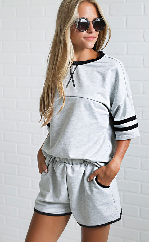 lounge lover two piece set - grey