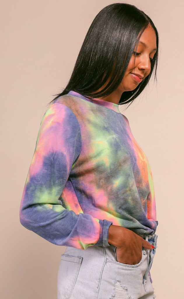 lounge around tie dye pullover