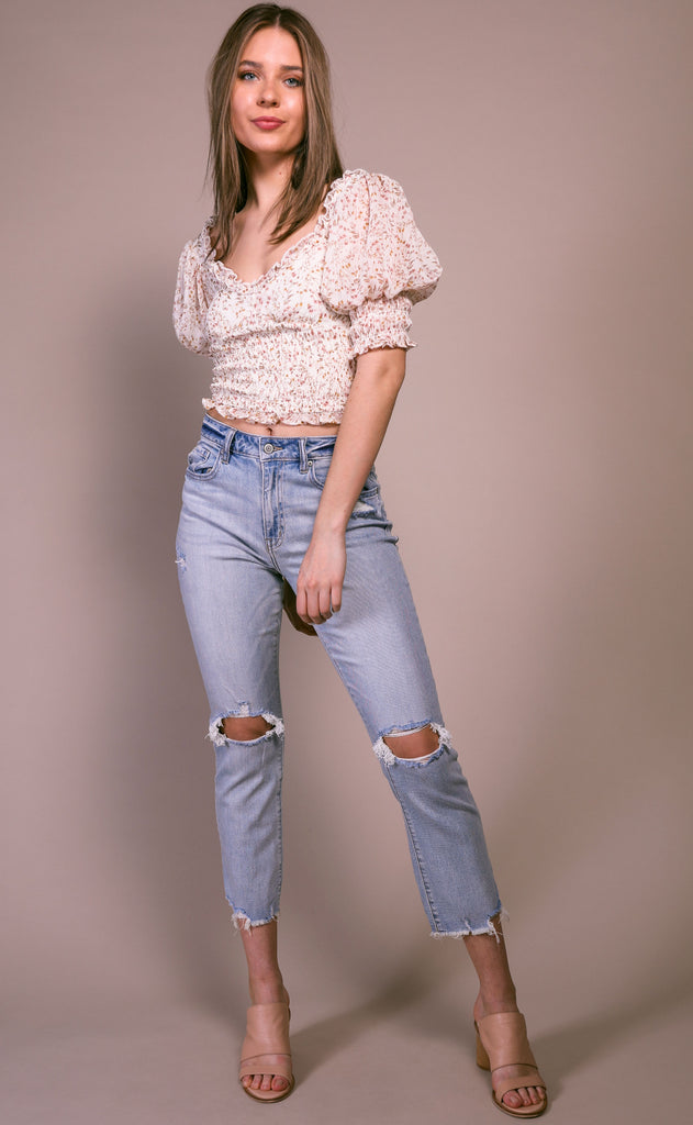 ally high rise crop jeans