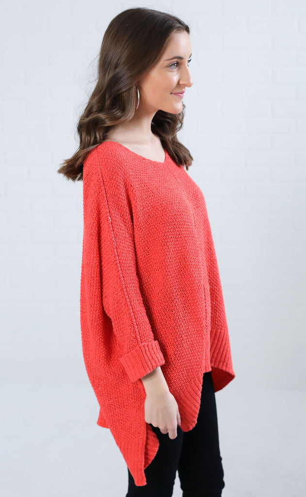 love is in the air knit sweater - red