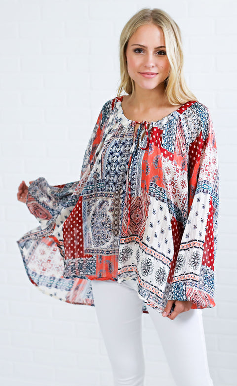 love letter printed top