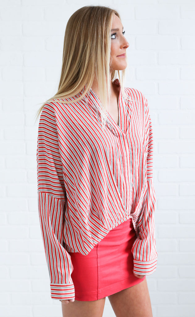 lovely day striped top