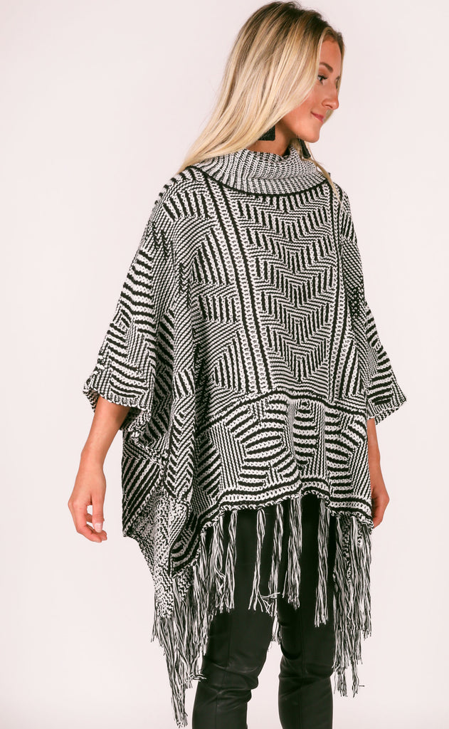 lucca: greg mosaic poncho