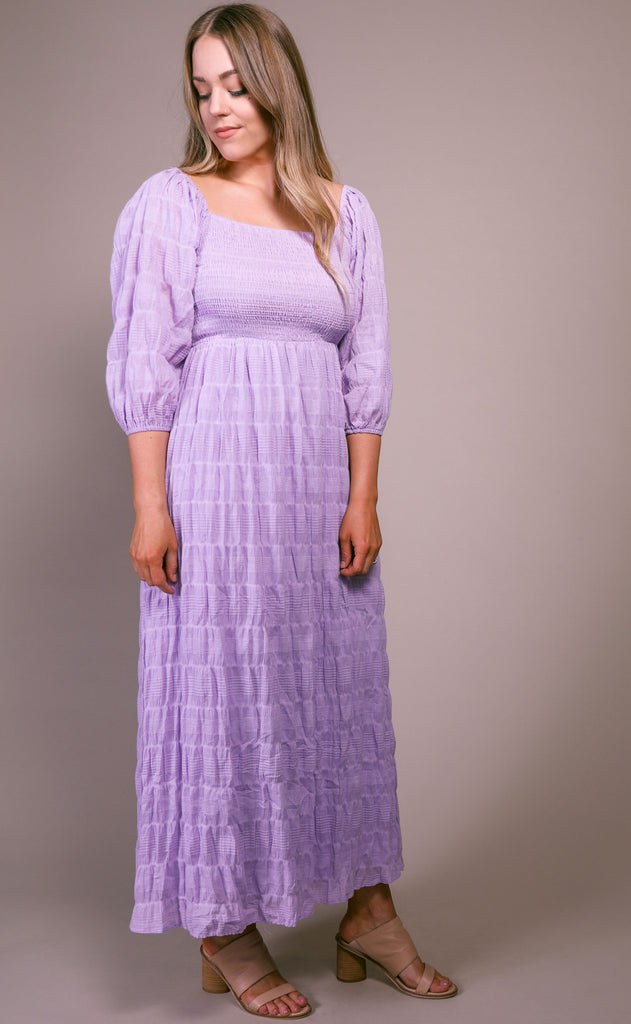 lucca: rue smocked maxi dress