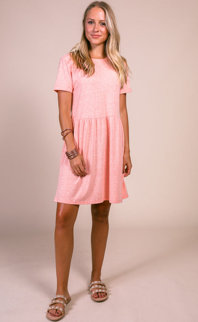 z supply: lucia triblend dress - coral almond