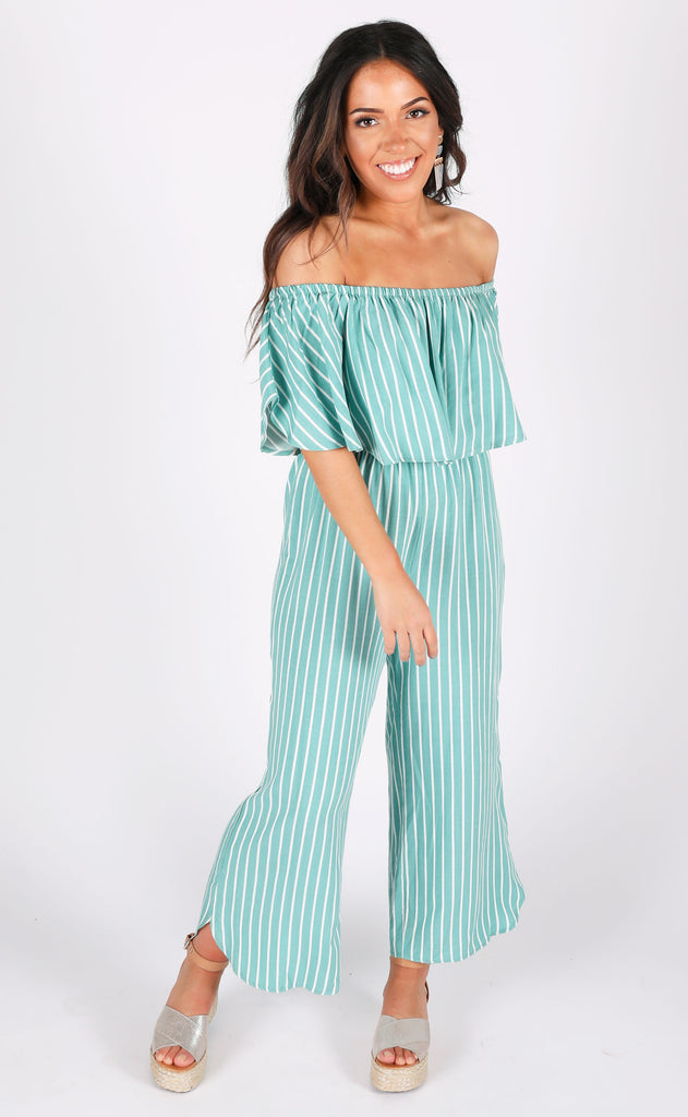 lucky striped jumpsuit