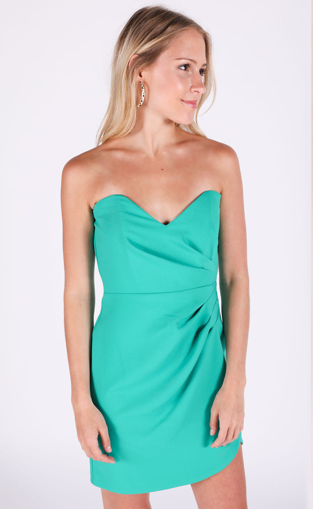 lucky day strapless dress