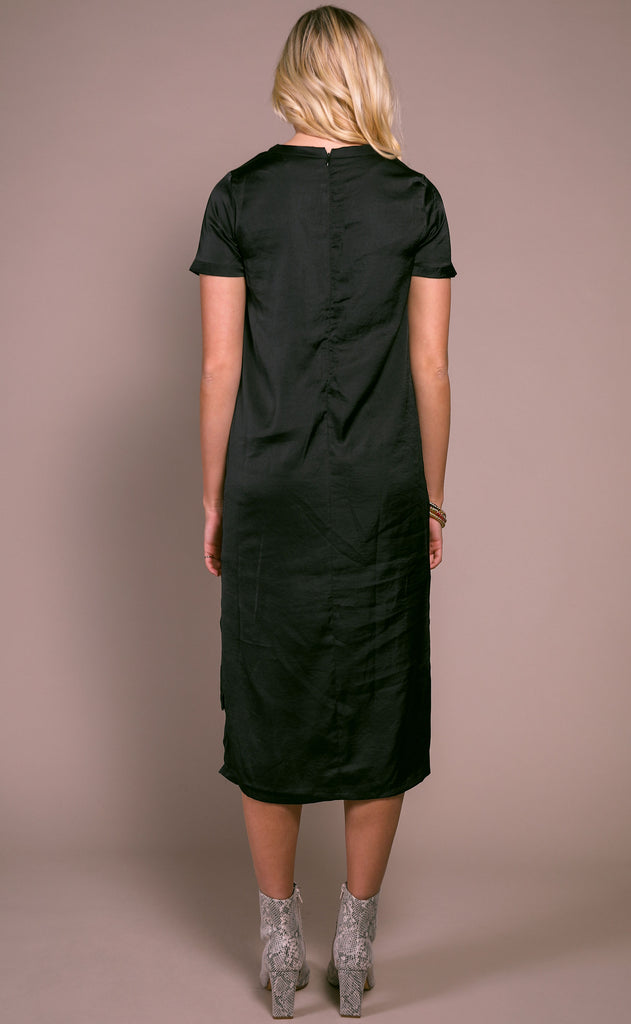 lucky day basic dress - black